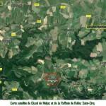 011.Les souterrains-annexe carte satellite Meljac-Rullac-St.Cirq