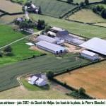 012.Les souterrains-annexe vue aérienne 2012 du Cluzel
