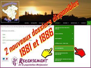recensements meljacois 1881 & 1886-22.3.2017